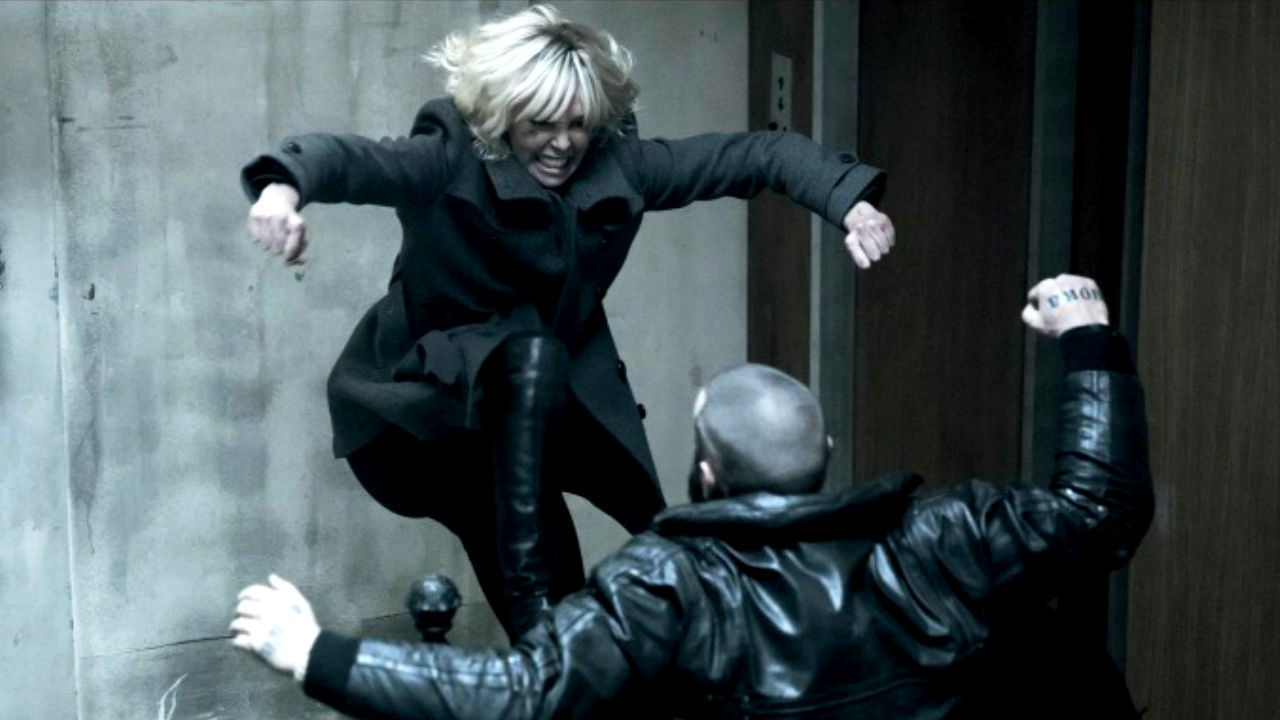 Image result for atomic blonde fight scene