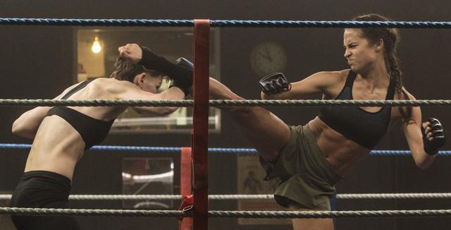 Tomb Raider Wrestling Scene